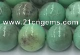CAA4872 15.5 inches 10mm round grass agate beads wholesale