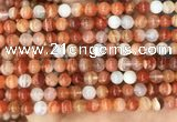 CAA5001 15.5 inches 6mm round red botswana agate beads wholesale