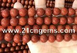 CAA5102 15.5 inches 12mm round red agate gemstone beads