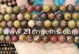 CAA5135 15.5 inches 10mm round natural chrysotine beads wholesale