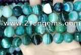 CAA5246 15.5 inches 16mm faceted round banded agate beads