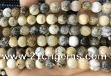 CAA5258 15.5 inches 10mm round dendrite agate beads wholesale