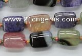 CAA544 15.5 inches 12*16mm rectangle dyed madagascar agate beads