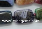 CAA545 15.5 inches 18*25mm rectangle dyed madagascar agate beads
