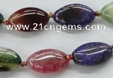 CAA547 15.5 inches 12*20mm marquise dyed madagascar agate beads