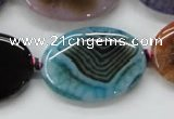 CAA554 15.5 inches 25*35mm oval dyed madagascar agate beads