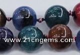 CAA606 15.5 inches 20mm round dragon veins agate beads wholesale