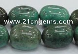 CAB05 15.5 inches 18*25mm nugget green grass agate gemstone beads