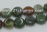 CAB129 15.5 inches 12mm coin india agate gemstone beads wholesale