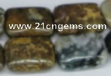 CAB376 15.5 inches 18*25mm rectangle ocean agate gemstone beads
