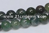 CAB385 15.5 inches 10mm round moss agate gemstone beads wholesale