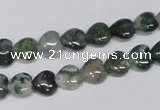 CAB404 15.5 inches 8*8mm heart moss agate gemstone beads wholesale