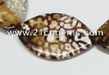 CAB637 15.5 inches 25*35mm marquise leopard skin agate beads