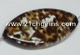 CAB639 15.5 inches 25*50mm marquise leopard skin agate beads
