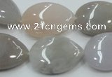 CAB958 15.5 inches 18*25mm flat teardrop ocean agate gemstone beads