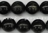 CAE07 15.5 inches 16mm round astrophyllite beads wholesale