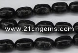CAE15 15.5 inches 8*12mm egg-shaped astrophyllite beads wholesale