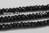 CAE31 15.5 inches 4*6mm faceted rondelle astrophyllite beads wholesale