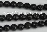 CAE36 15.5 inches 8mm faceted round astrophyllite beads wholesale