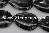 CAE70 15.5 inches 22*30mm flat teardrop astrophyllite beads wholesale
