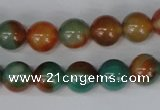 CAG1000 15.5 inches 10mm round rainbow agate beads wholesale