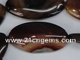 CAG1322 15.5 inches 20*38mm marquise line agate gemstone beads