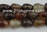 CAG1447 15.5 inches 10*14mm teardrop dragon veins agate beads