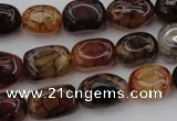 CAG1456 15.5 inches 10*15mm nuggets dragon veins agate beads