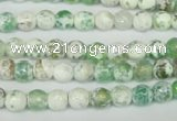 CAG1501 15.5 inches 6mm faceted round fire crackle agate beads