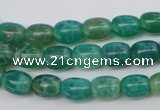 CAG1620 15.5 inches 8*10mm egg-shaped peafowl agate gemstone beads
