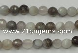 CAG1801 15.5 inches 6mm faceted round grey botswana agate beads