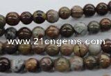 CAG1915 15.5 inches 6mm round green magic agate beads wholesale