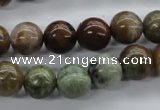 CAG1917 15.5 inches 10mm round green magic agate beads wholesale