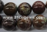 CAG1919 15.5 inches 14mm round green magic agate beads wholesale