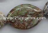 CAG1948 15.5 inches 25*40mm marquise green magic agate beads