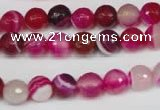 CAG2086 15.5 inches 8mm faceted round fuchsia line agate beads