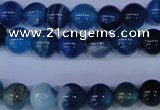 CAG2342 15.5 inches 8mm round blue line agate beads wholesale