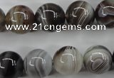 CAG3685 15.5 inches 14mm round botswana agate beads wholesale