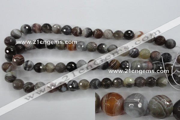 CAG3694 15.5 inches 12mm faceted round botswana agate beads wholesale