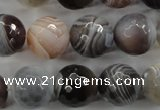 CAG3695 15.5 inches 14mm faceted round botswana agate beads wholesale