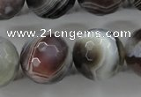 CAG3698 15.5 inches 20mm faceted round botswana agate beads wholesale