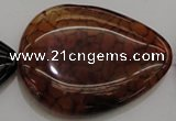 CAG4088 15.5 inches 38*50mm flat teardrop dragon veins agate beads