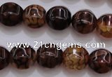 CAG4144 15.5 inches 14*14mm pumpkin dragon veins agate beads