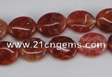 CAG4210 15.5 inches 8*10mm oval natural fire agate beads