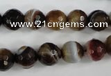 CAG4535 15.5 inches 10mm faceted round agate beads wholesale