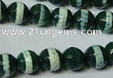 CAG4696 15.5 inches 10mm faceted round tibetan agate beads wholesale