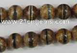 CAG4742 15 inches 10mm round tibetan agate beads wholesale