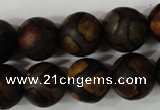 CAG4767 15 inches 14mm round tibetan agate beads wholesale