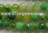 CAG4781 15.5 inches 8mm faceted round fire crackle agate beads