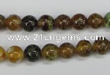 CAG4832 15 inches 8mm round dragon veins agate beads wholesale